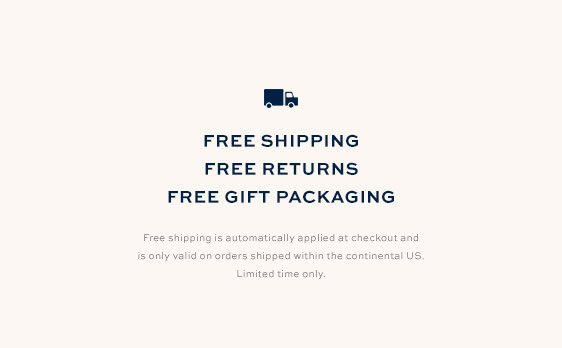 Free Shipping, Free Returns & Free Gift Packaging